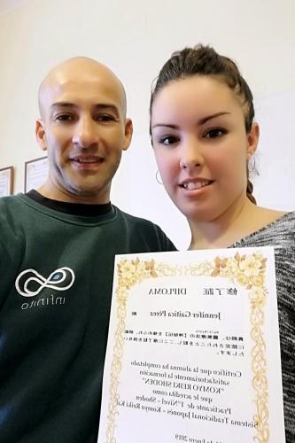 Entrega diploma de reiki